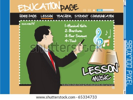 Education page, website, music