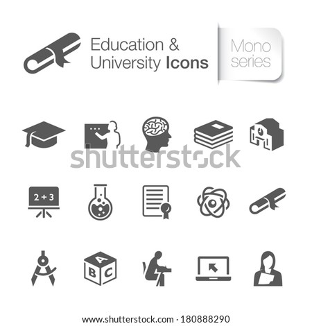 Education related icons.  - stock vector
