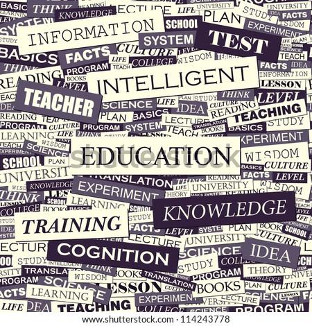 EDUCATION. Seamless pattern. - stock vector
