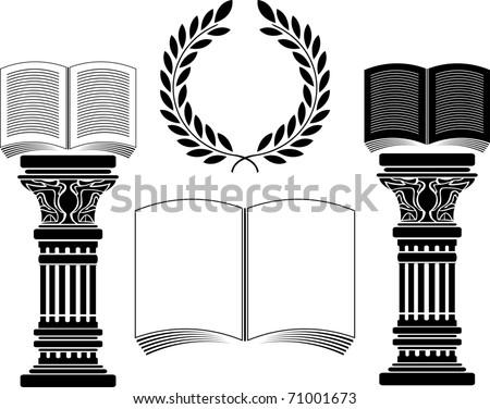 education. stencil. first variant. vector illustration - stock vector