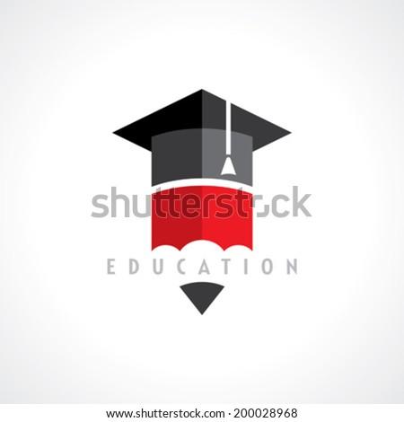 Education symbol concept, vector - stock vector