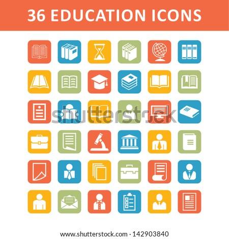 Education symbols - stock vector