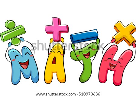 Education Themed Illustration Featuring Colorful Mathematical Stock