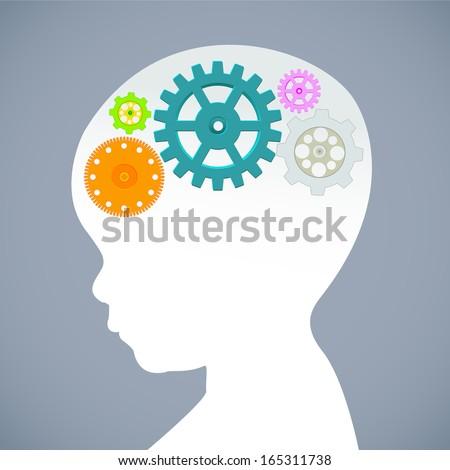 Education thinking concept. Vector illustration. - stock vector