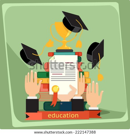 Education, vector illustration - stock vector