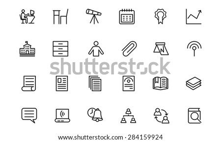 Education Vector Line Icons 6