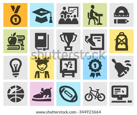 education vector logo design template. school or study icons - stock vector