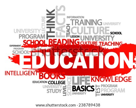 EDUCATION. Word business collage, vector background - stock vector