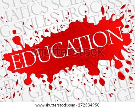 EDUCATION word cloud, business concept - stock vector