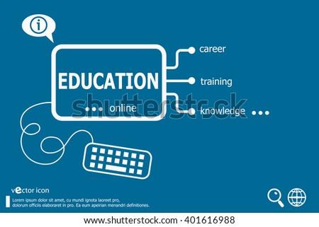 Education word cloud, business concept. Education concept for application development, creative process. - stock vector