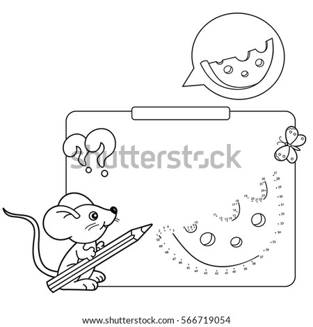 Educational Games For Kids Numbers Game Cheese Coloring Page Outline Of Mouse With