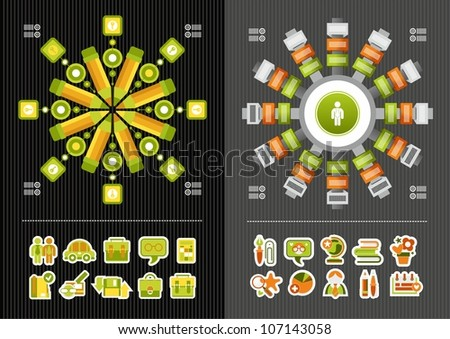 educational icons and infographics - stock vector