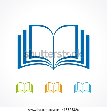 Educational Logotype Template Learning Teaching Reading Stock Vector ...