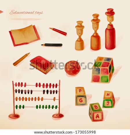 Educational toys. Eps10 - stock vector