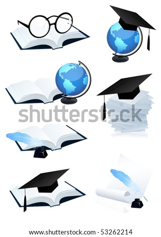 Eduction icon set,  vector illustration - stock vector