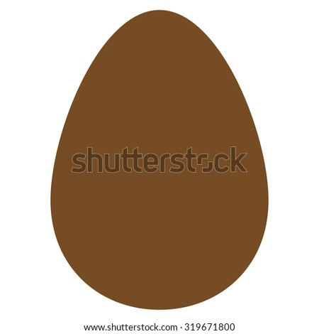 Egg icon from Primitive Set. This isolated flat symbol is drawn with brown color on a white background, angles are rounded.