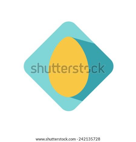 egg icon Vector EPS 10 illustration. - stock vector