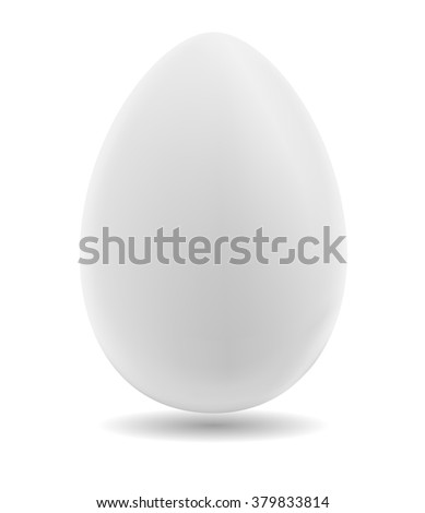 Egg on a white background. Natural ecological product. Healthy food. Dietary meal. Easter symbol. Vector illustration