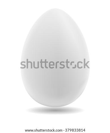 Egg on a white background. Vector illustration - stock vector