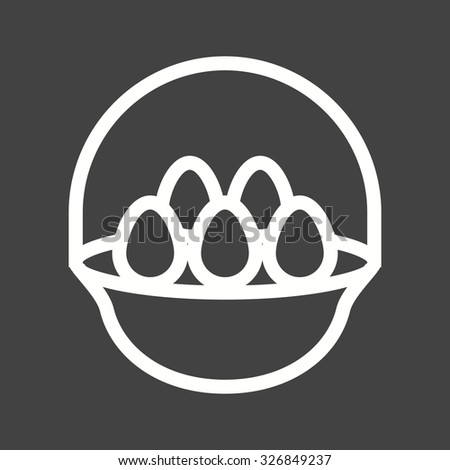 Eggs, basket, hen icon vector image.Can also be used for easter, celebration, observances and holidays. Suitable for mobile apps, web apps and print media.