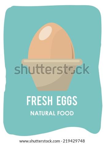 eggs graphic design , vector illustration - stock vector
