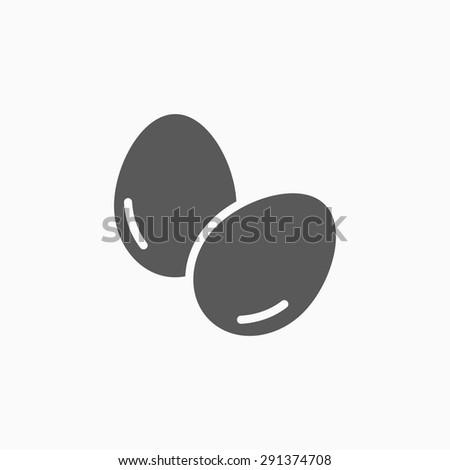 eggs icon - stock vector
