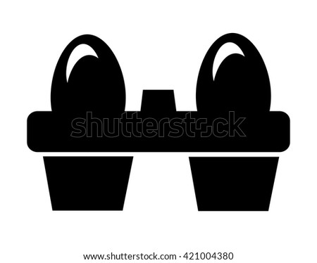 Eggs icon isolated on white background. Vector art. - stock vector
