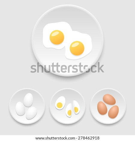Eggs icons - stock vector