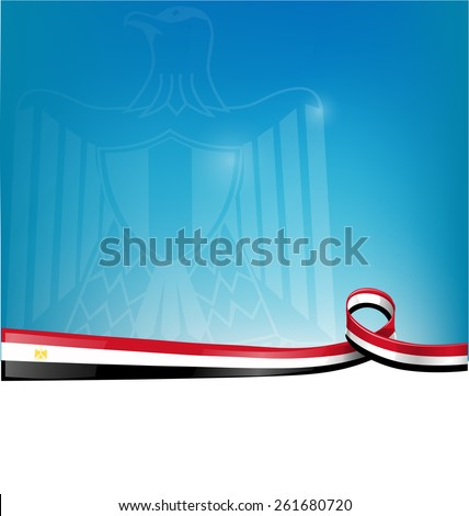egypt flag on background - stock vector