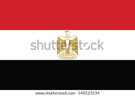 Egypt Flag. Vector Format