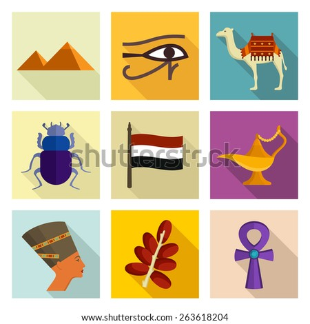 Egypt icon set - stock vector