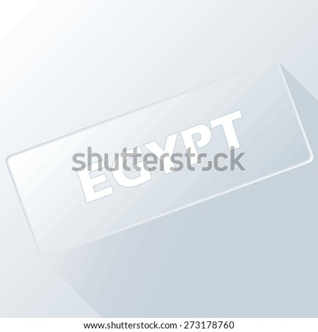 Egypt unique button for any design. Vector illustration
