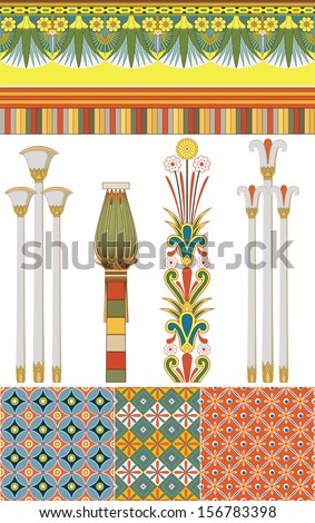 Egyptian culture - stock vector