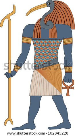 Egyptian Gods - Thoth - stock vector