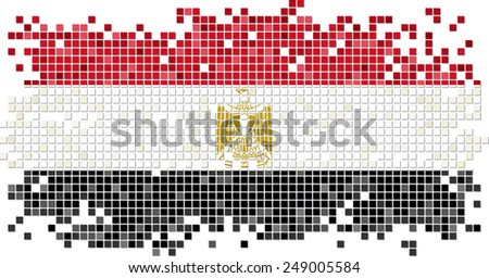 Egyptian grunge tile flag. Vector illustration Eps 8. - stock vector