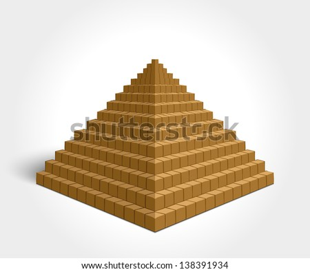 Egyptian Pyramid - stock vector