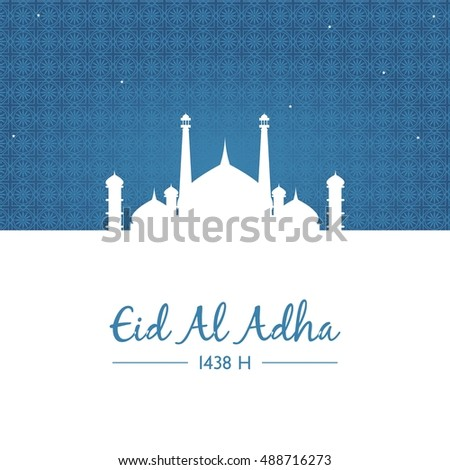 Eid adha mubarak greeting card islamic stock vector 488716273 eid adha mubarak greeting card islamic design template vector illustration m4hsunfo