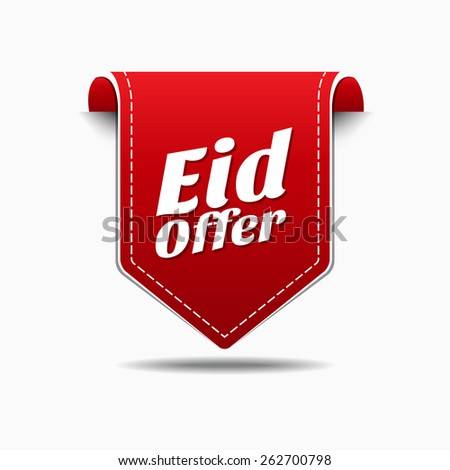Eid Offer Red Vector Icon Design