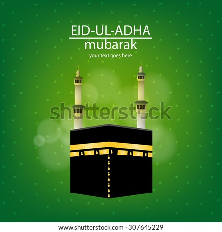 Eiduladha mubarak on vector eid greeting stock vector 307645229 eid ul adha mubarak on a vector eid greeting card for the muslim m4hsunfo