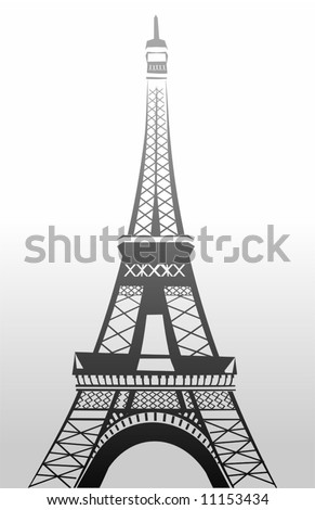 eifel tower in black and white