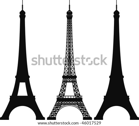 eiffel tower stock vector hd royalty free 46017529 shutterstock rh shutterstock com eiffel tower vector png eiffel tower vector free download