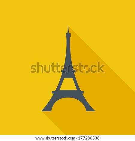 Eiffel Tower Flat Icon. Vector Pictogram. EPS 10. - stock vector