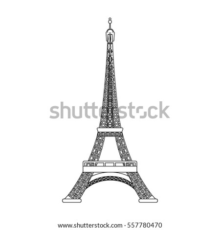Eiffel tower icon outline style isolated stock vector royalty free eiffel tower icon in outline style isolated on white background france country symbol stock vector thecheapjerseys Gallery