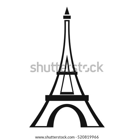 Eiffel tower icon simple illustration eiffel stock photo photo eiffel tower icon simple illustration of eiffel tower vector icon for web thecheapjerseys Gallery