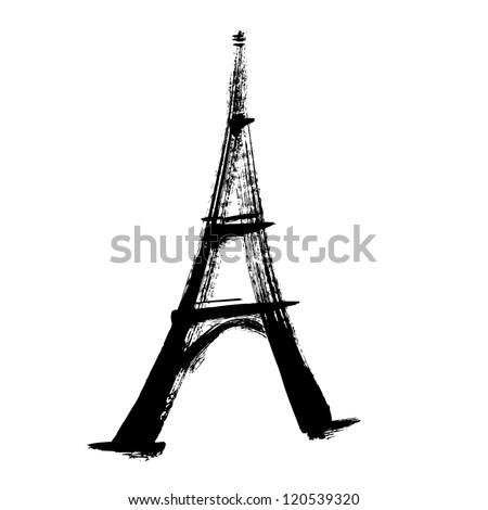 eiffel tower, illustration vector - stock vector