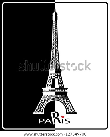 Eiffel Tower in Paris , Europe - stock vector