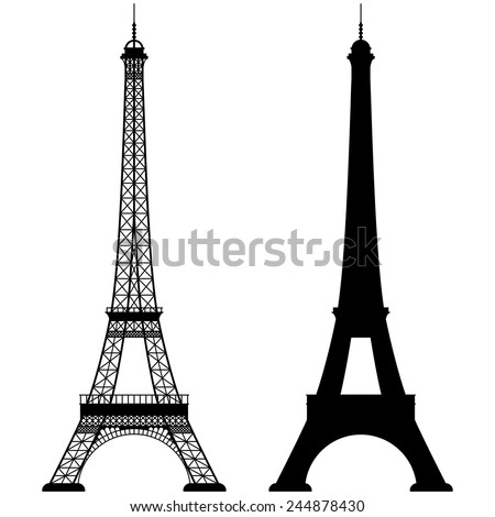 Eiffel tower isolated vector illustration, it is easy to edit and change. - stock vector