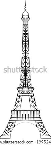 Eiffel Tower (Paris) vector - stock vector