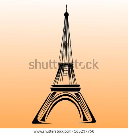 Eiffel tower vector - stock vector