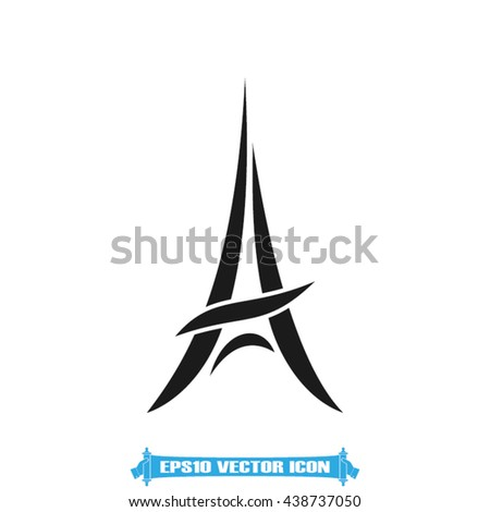 eiffel tower vector illustration - stock vector